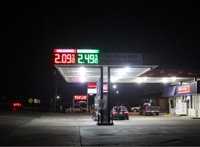 gas station canopy led price sign